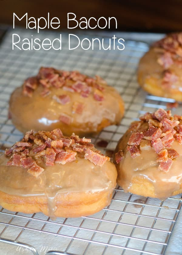 the combination of maple and bacon make these donut a unusual but out ...