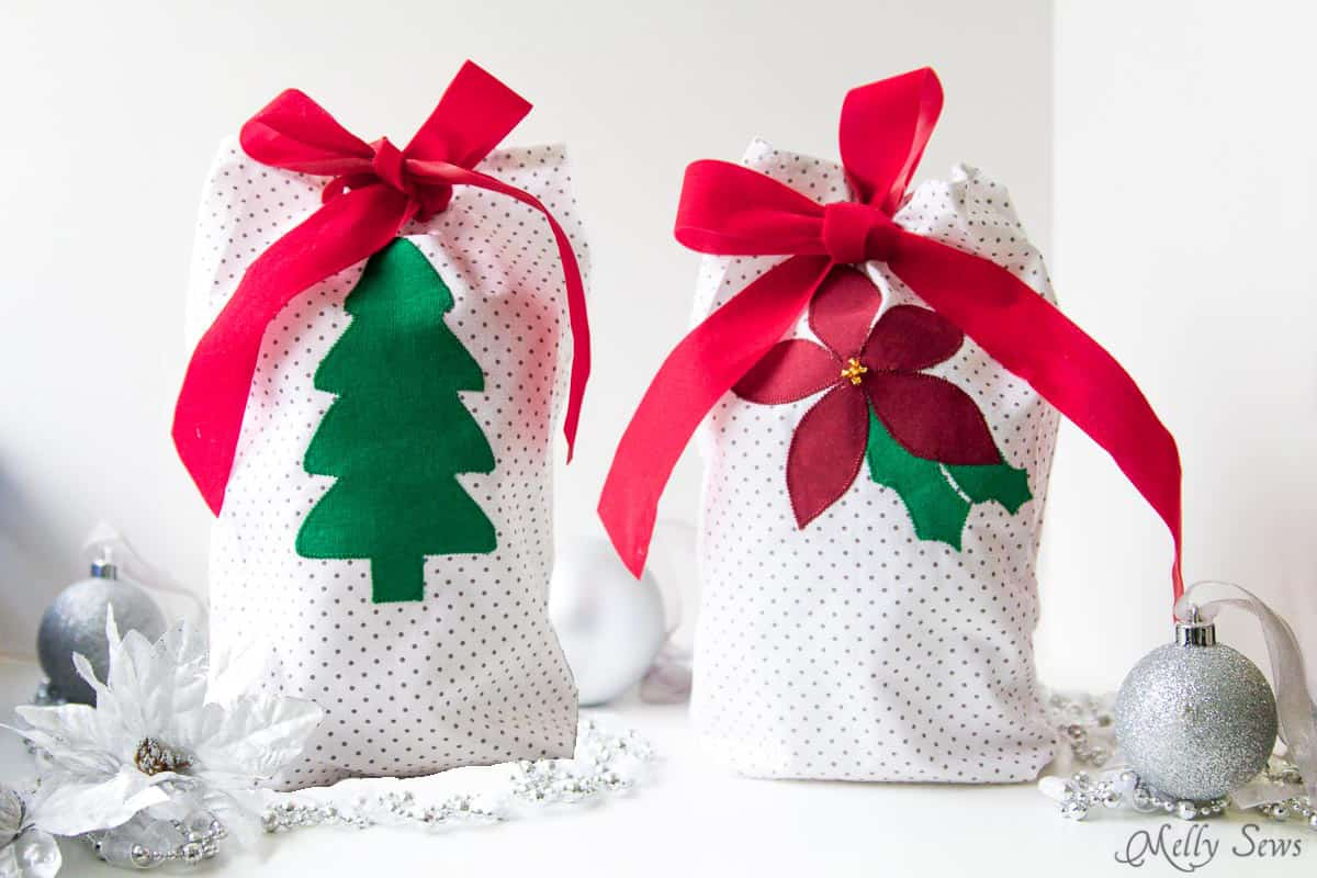 Ways to decorate gift bags - Diy Applique Gift Bag