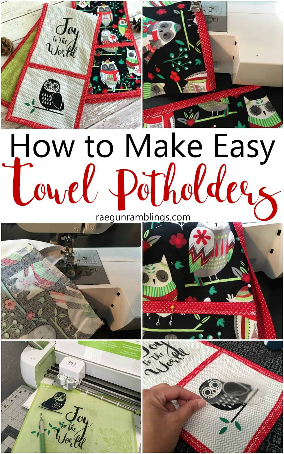 DIY double potholders that also function as towels. Cute sewing tutorial