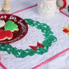 Free Quilted Placemat Pattern: Cookies for Santa