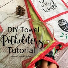 Easy kitchen gift tutorial. Towel potholders.