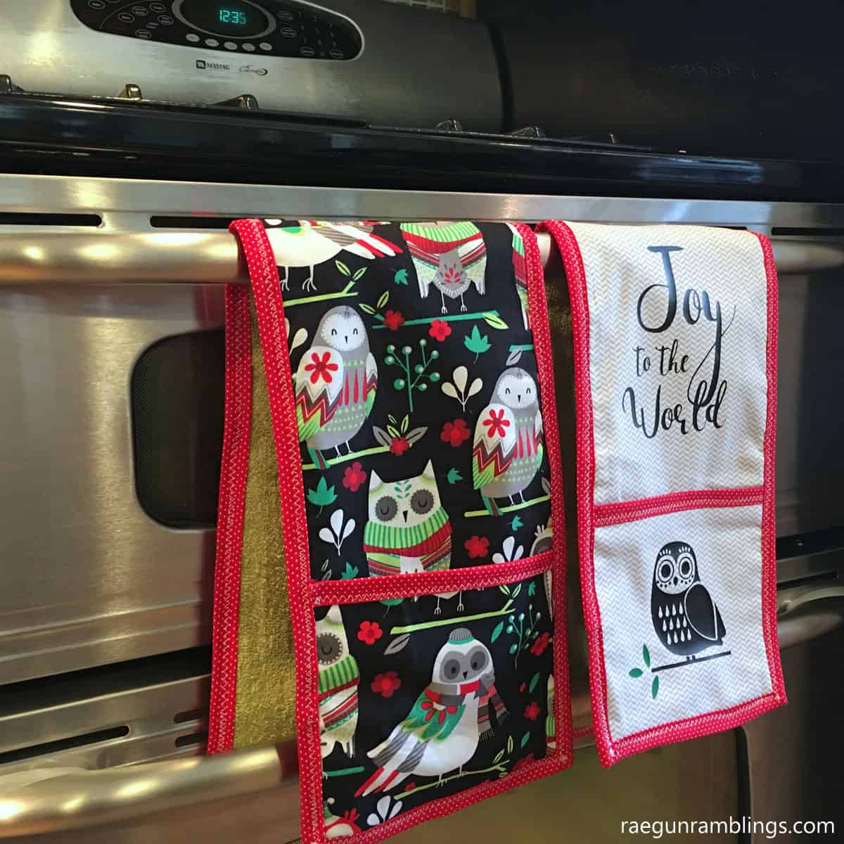 DIY towel double potholders tutorial