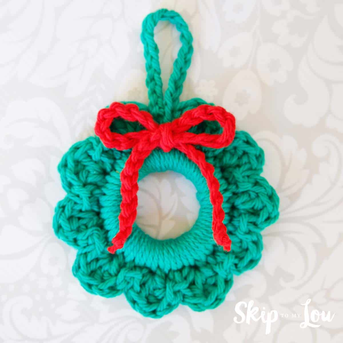 Easy Crochet Wreath Ornament | Skip To My Lou