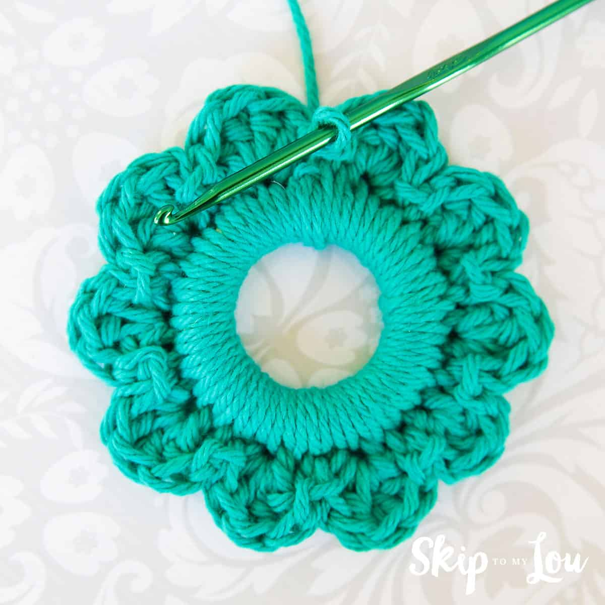 Easy Crochet Wreath Ornament Skip To My Lou