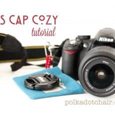 A cute case to store your lens cap in so you don't lose it! Makes a great gift for the photographer on your Christmas list/ tutorial courtesy of polkadotchair.com