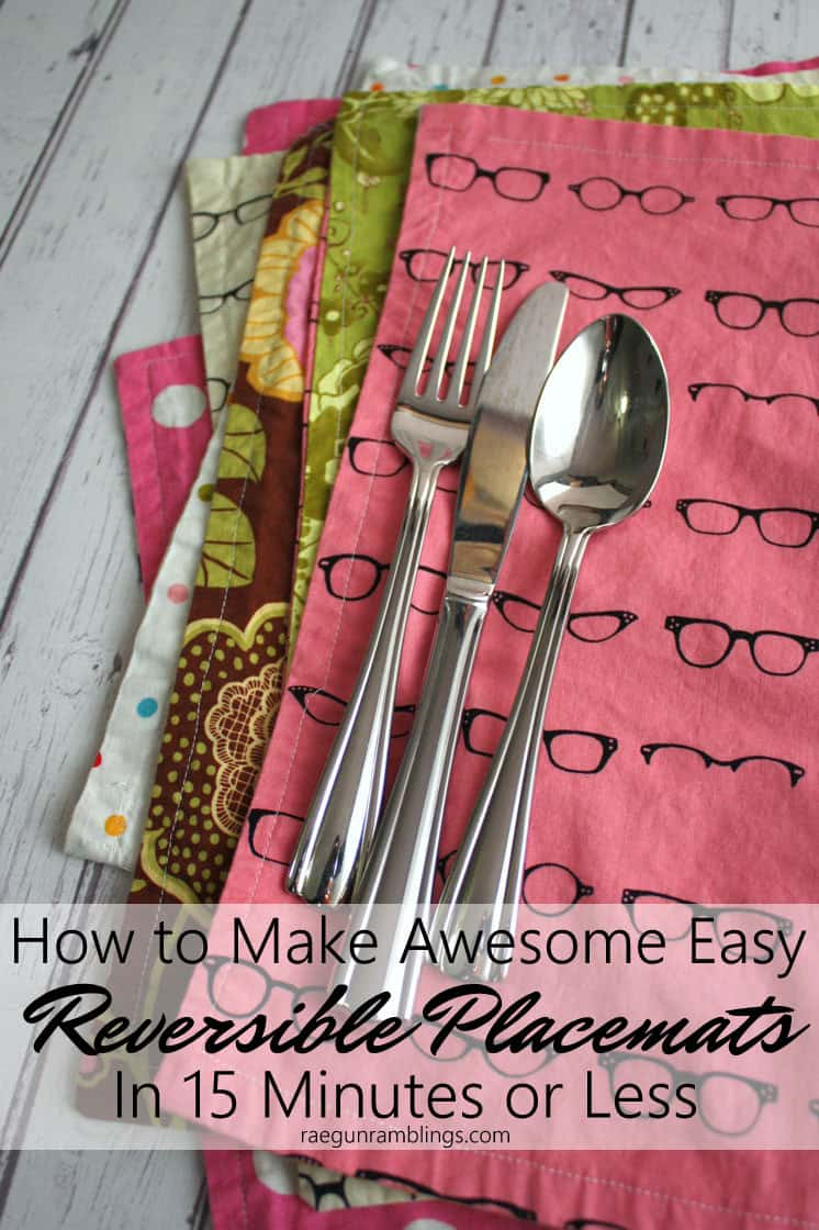 Quick and easy Reversible Place mats tutorial