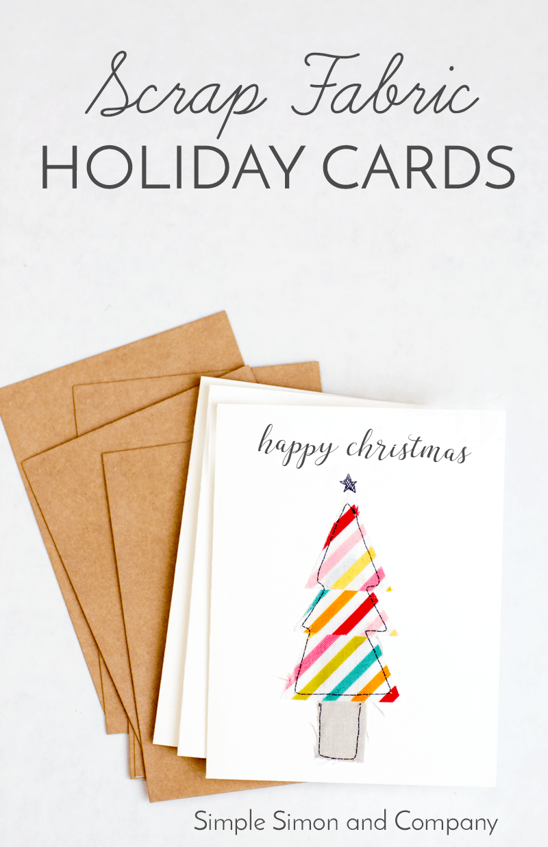 Scrap Fabric Holiday Cards