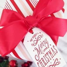 wooden gift tag