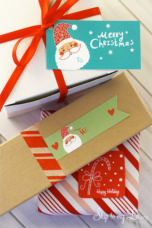 printable Christmas tags on packages