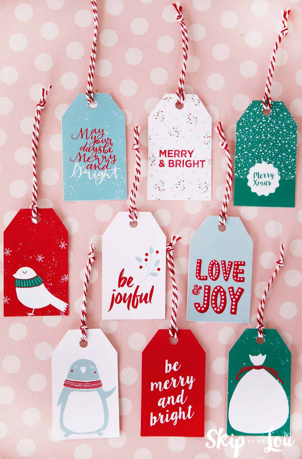 photo regarding Printable Holiday Gift Tags named Printable Xmas Present Tags Pass up Towards My Lou