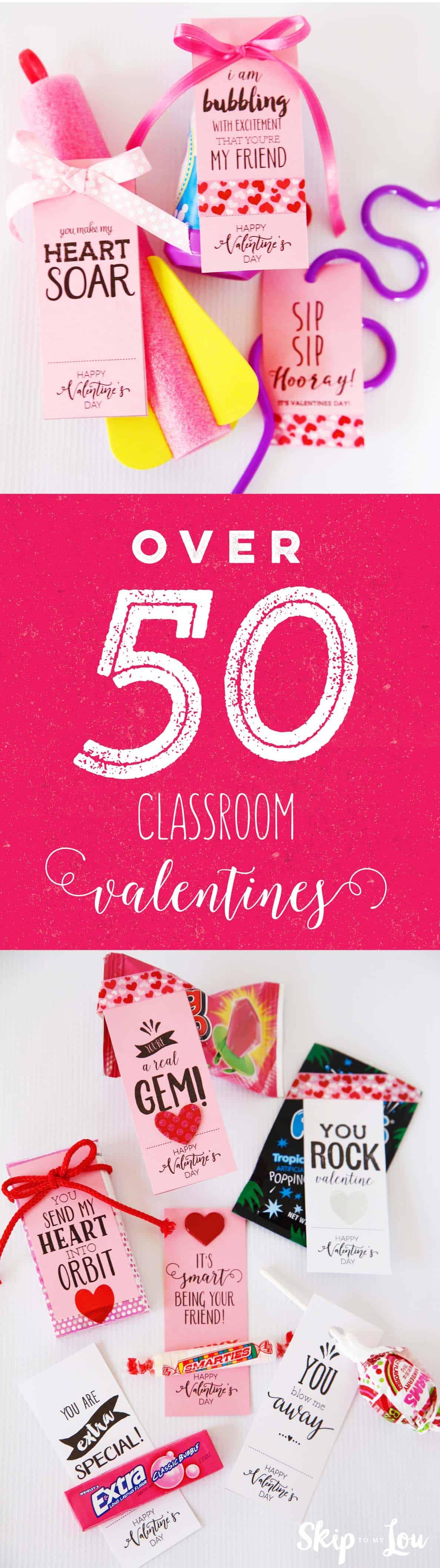 50 classroom valentines