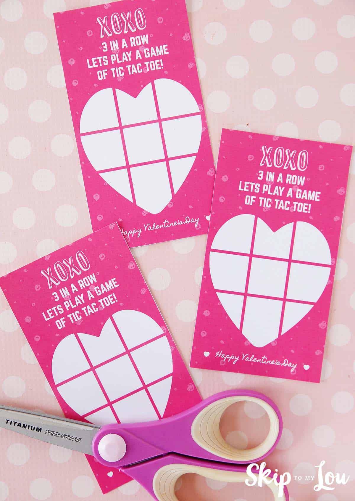 free valentine printable tic tac toe