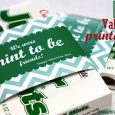 junior mints wrapped with printable valentine mint to be