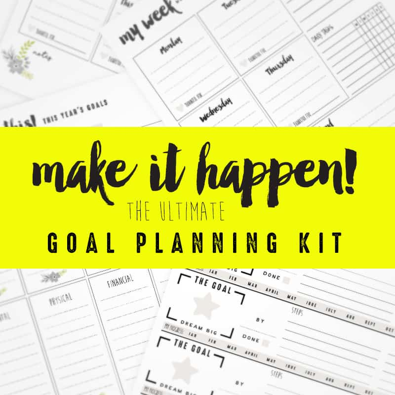 free goal setting worksheets collage