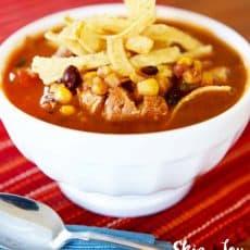instant pot pressure cooker chicken enchilada soup