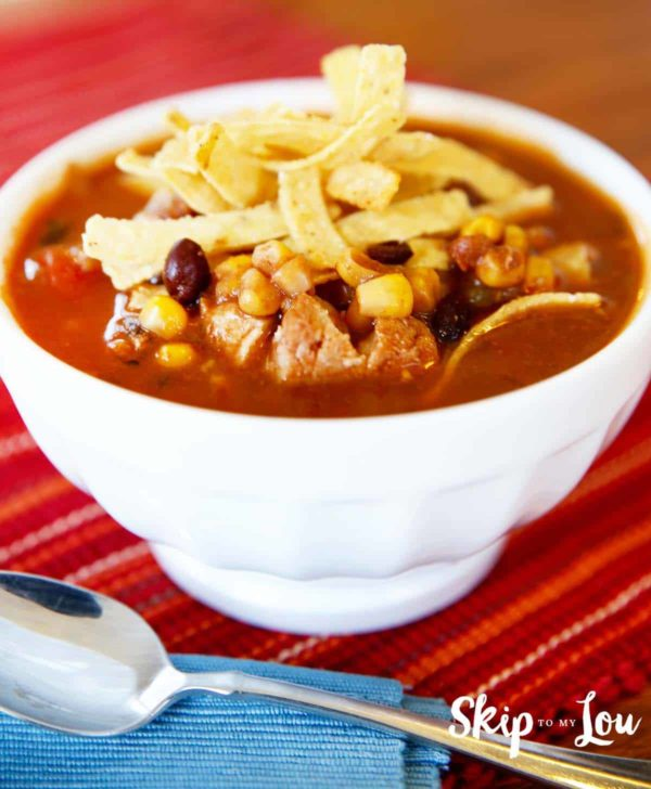 instant pot pressure cooker chicken enchilada soup