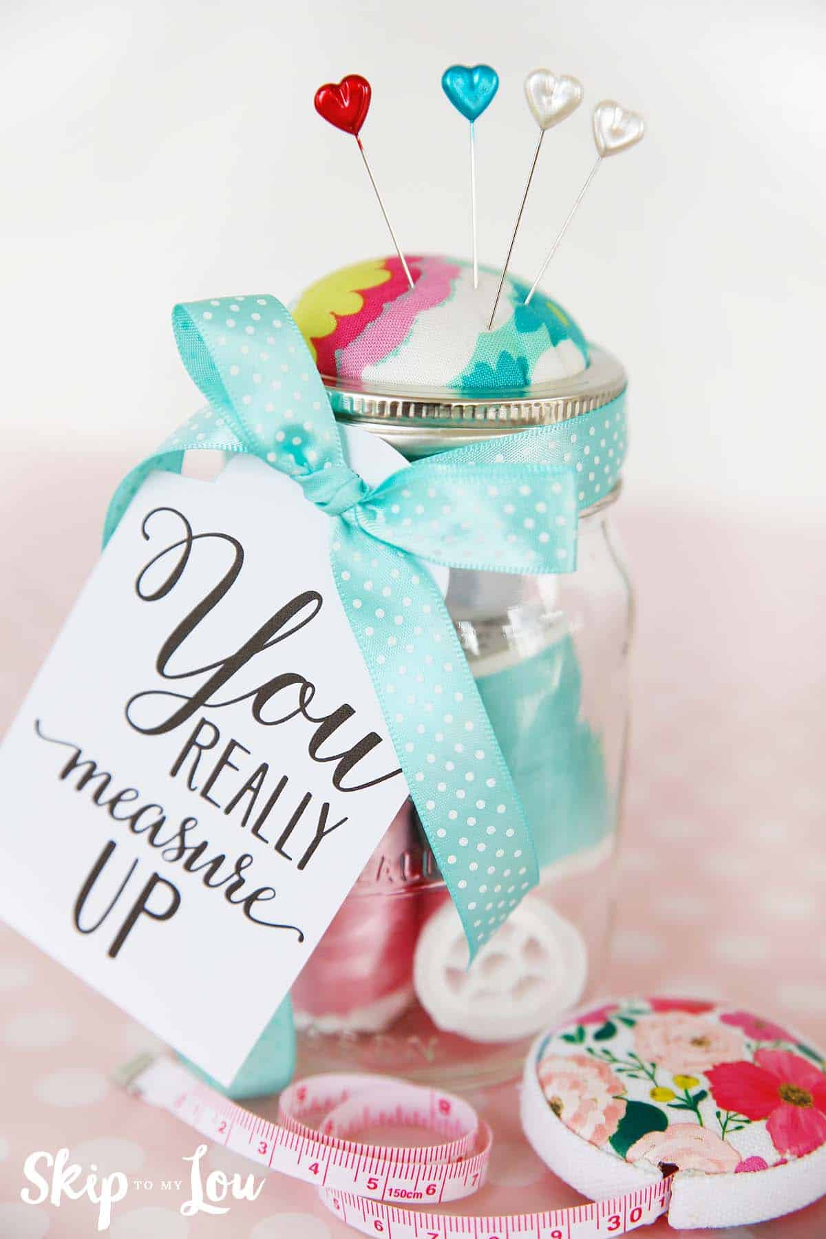 DIY Mason Jar Pin Cushion | Skip To My Lou
