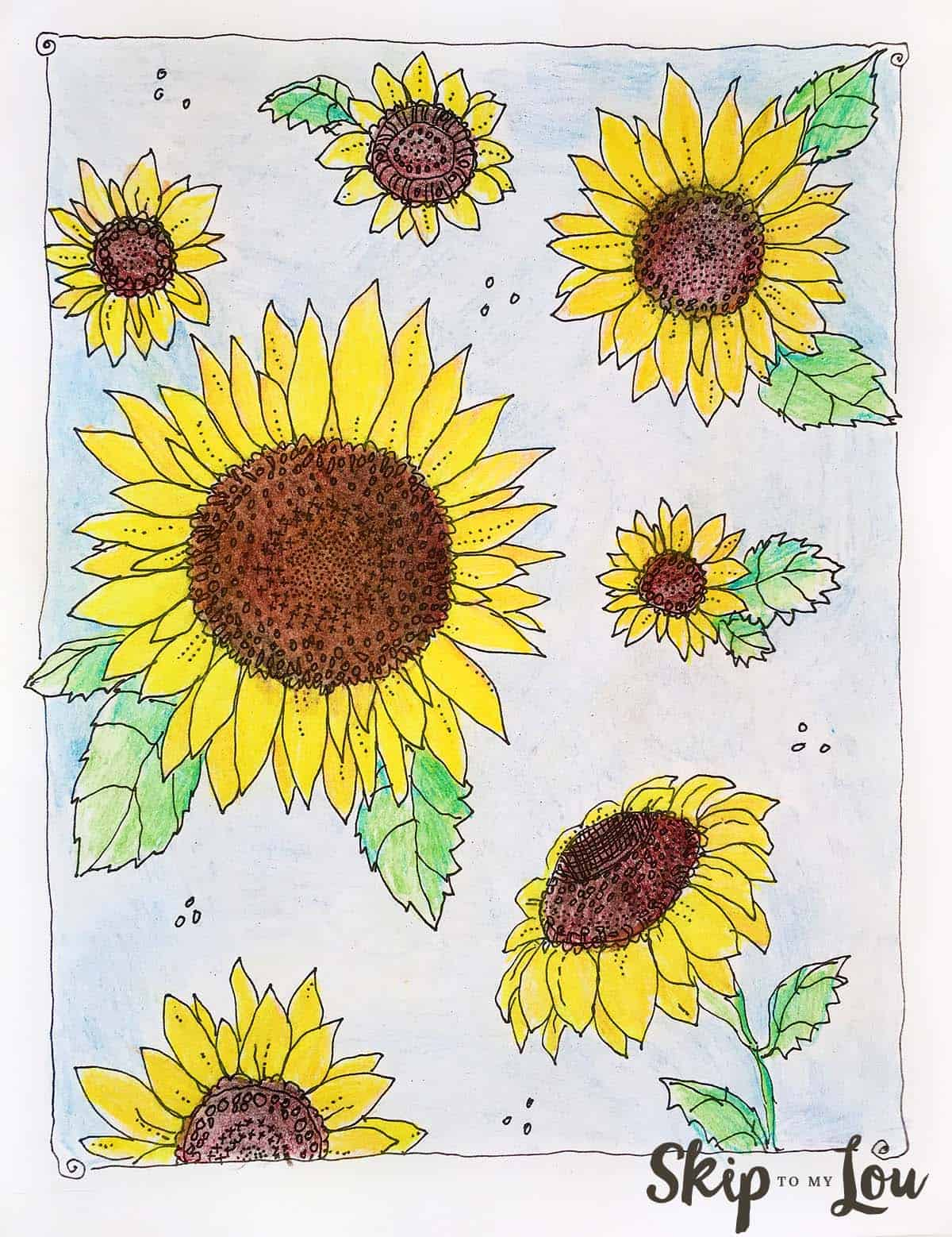 Sunflower Coloring Page | Skip To My Lou
