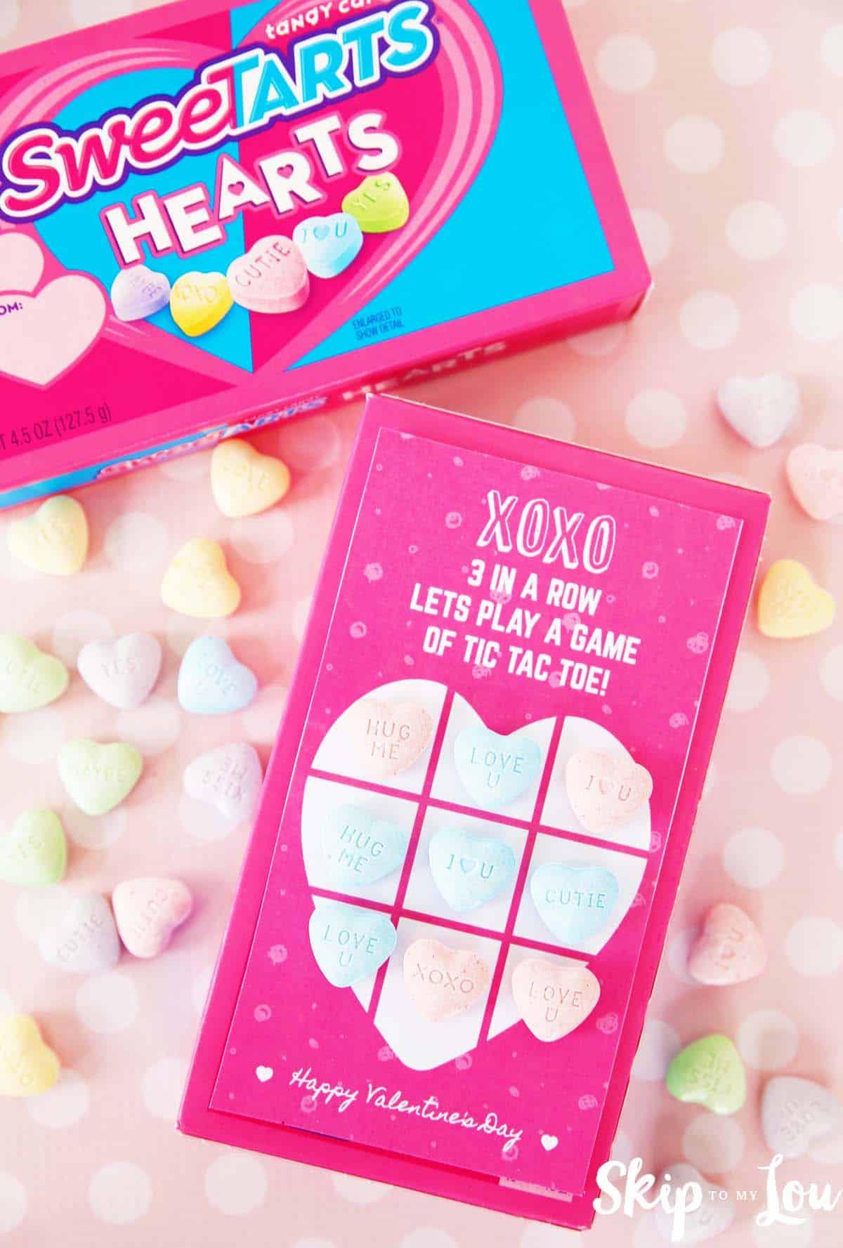 sweetarts heart valentine tic tac toe