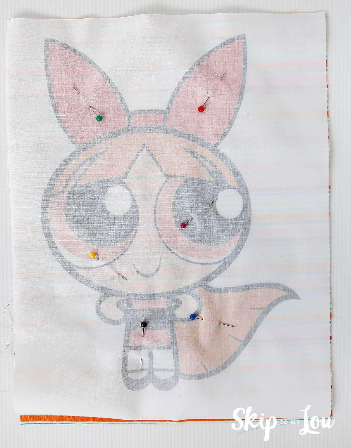 DIY printable fabric doll kids sewing