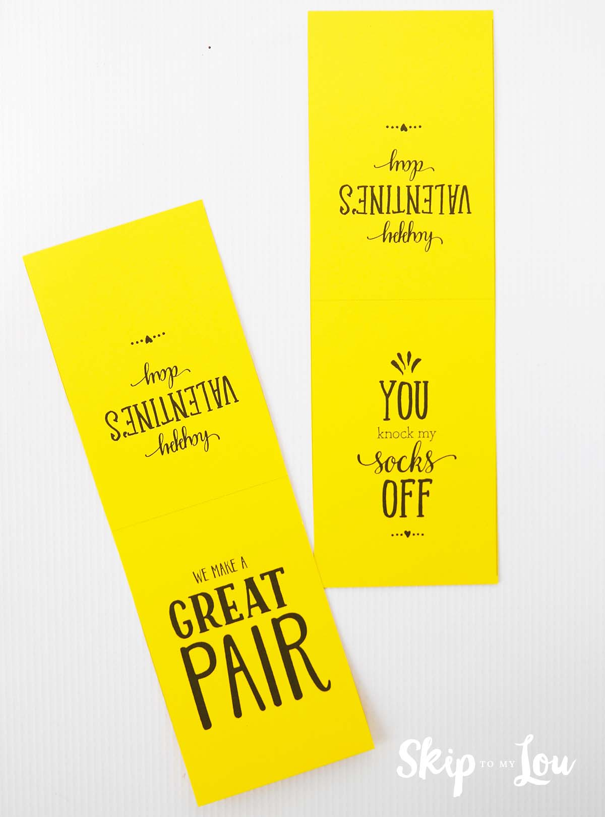 We are a great pair printable Valentine for socks