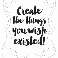 create the things you wish existed sewing sheet