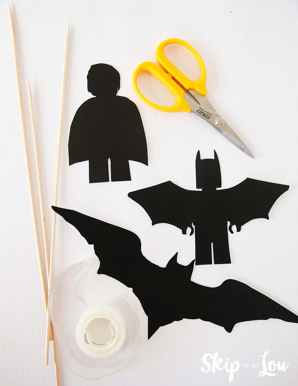 lego batman silhouette puppet supplies