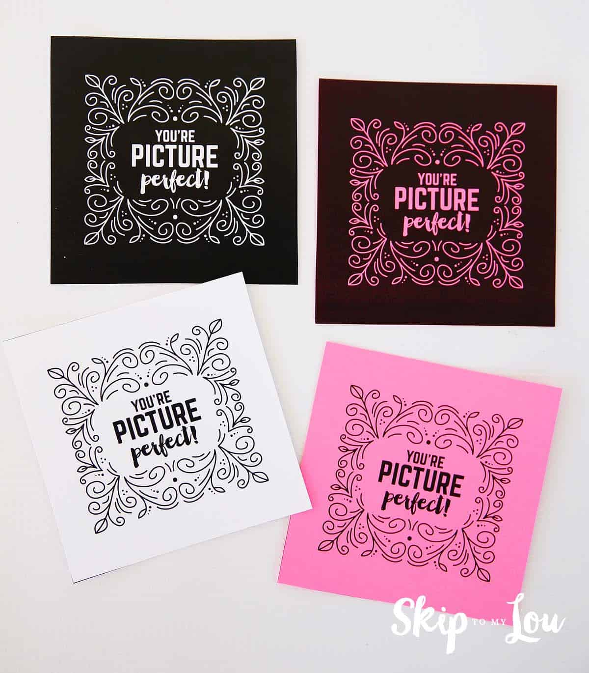 picture perfect printable Valentines