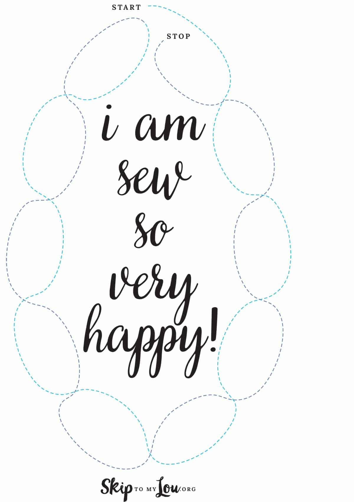 sew happy sewing sheet