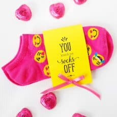 you knock my socks off printable Valentines