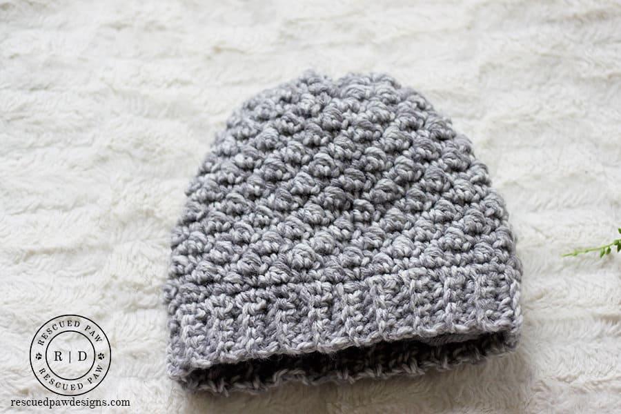 Emily crochet beanie hat pattern