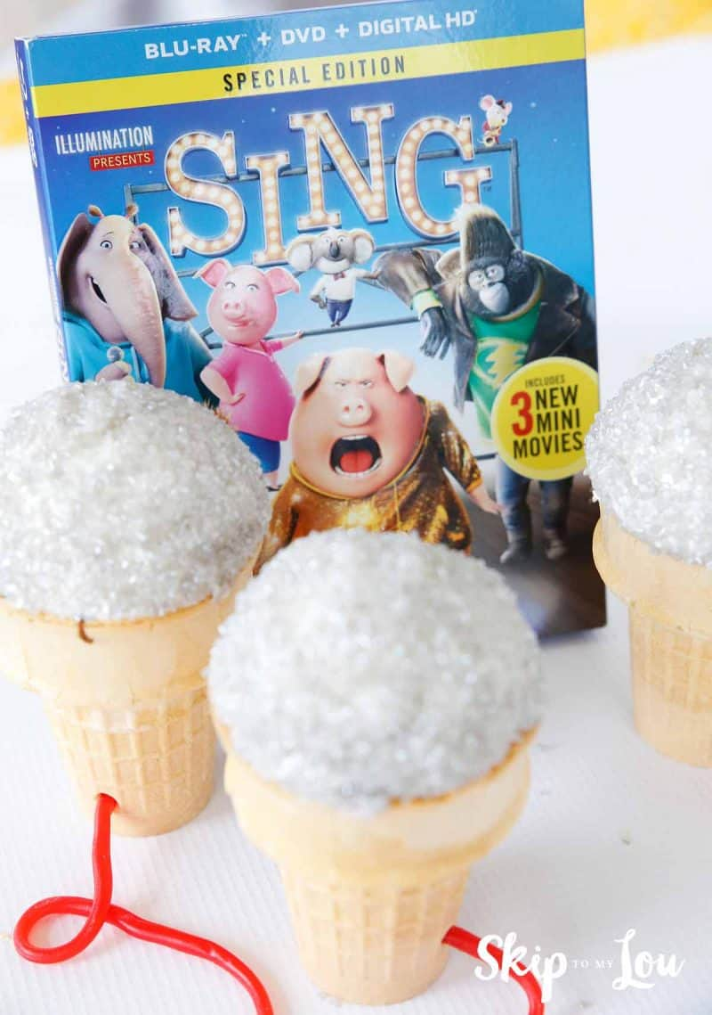 SING movie party cupcakes