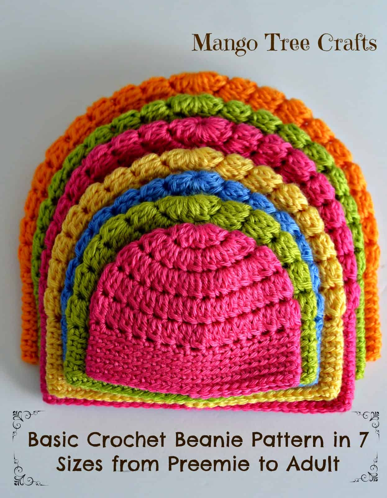 basic beanie crochet hat patterns