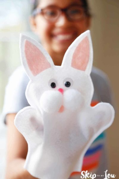 bunny puppet craft