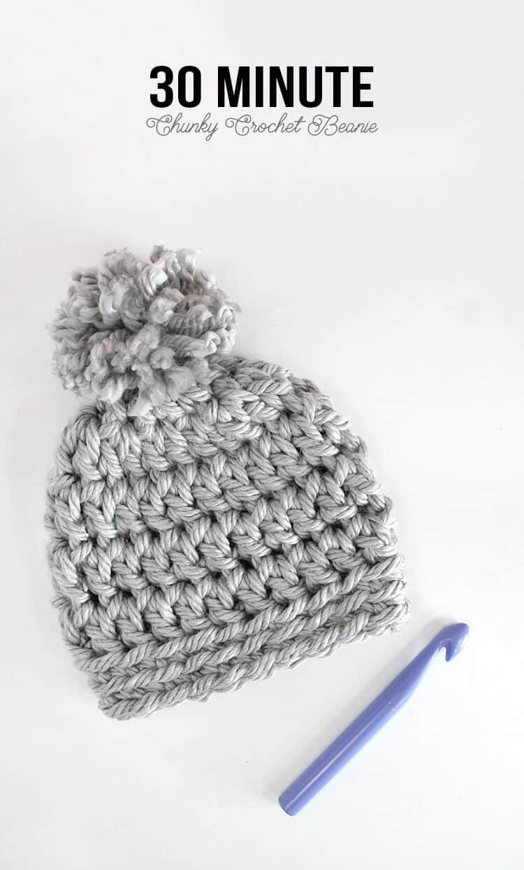 chunky beanie crochet hat pattern