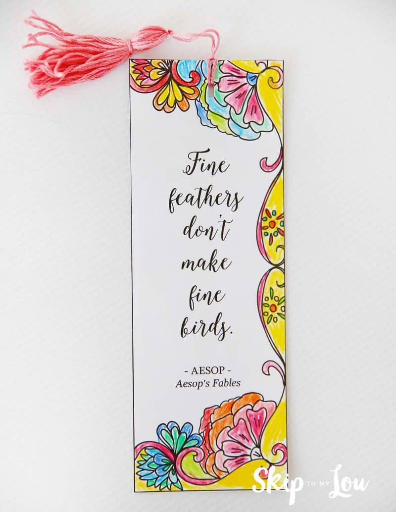 free coloring bookmark