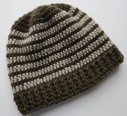 ribbed crochet beanie pattern
