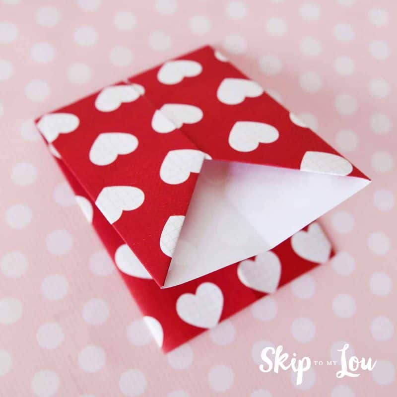 DIY origami gift card holder step 6
