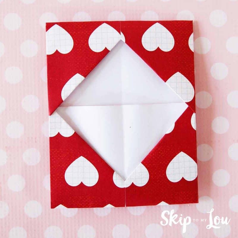 DIY origami gift card holder step 9