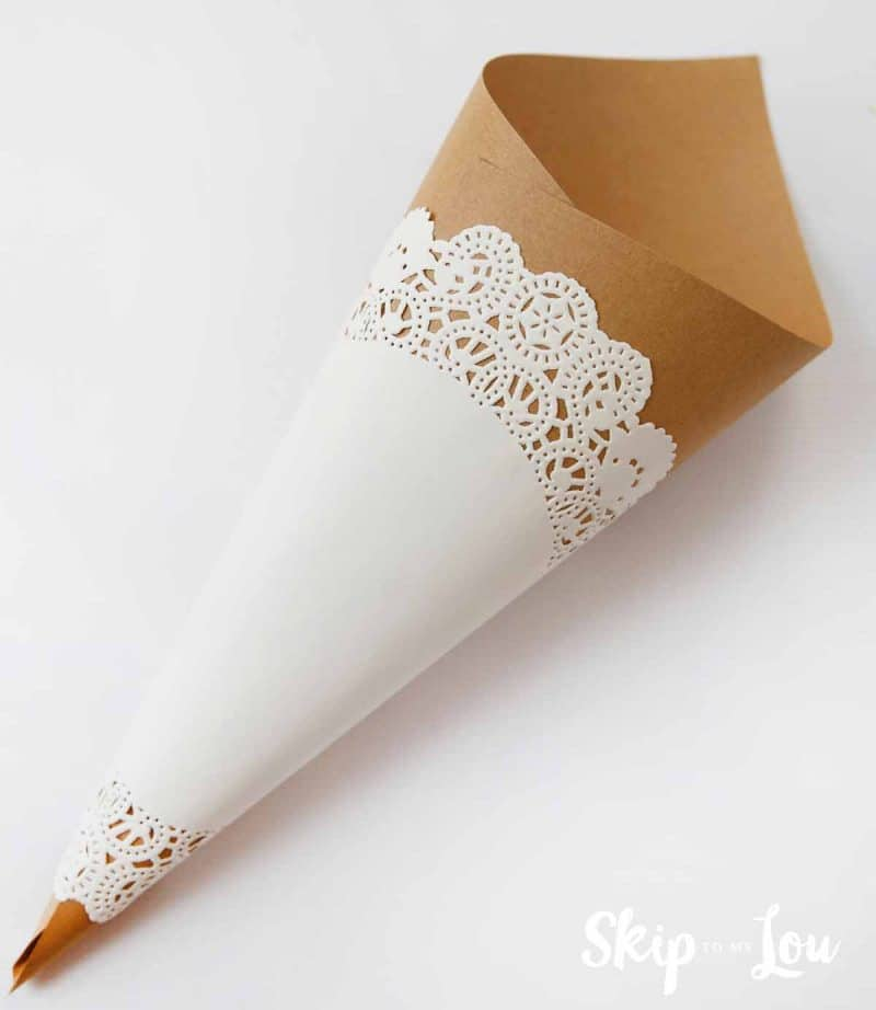 DIY paper cone may day basket