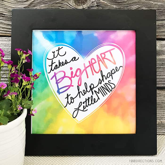 Printable Teacher Appreciation art by Jen Goode