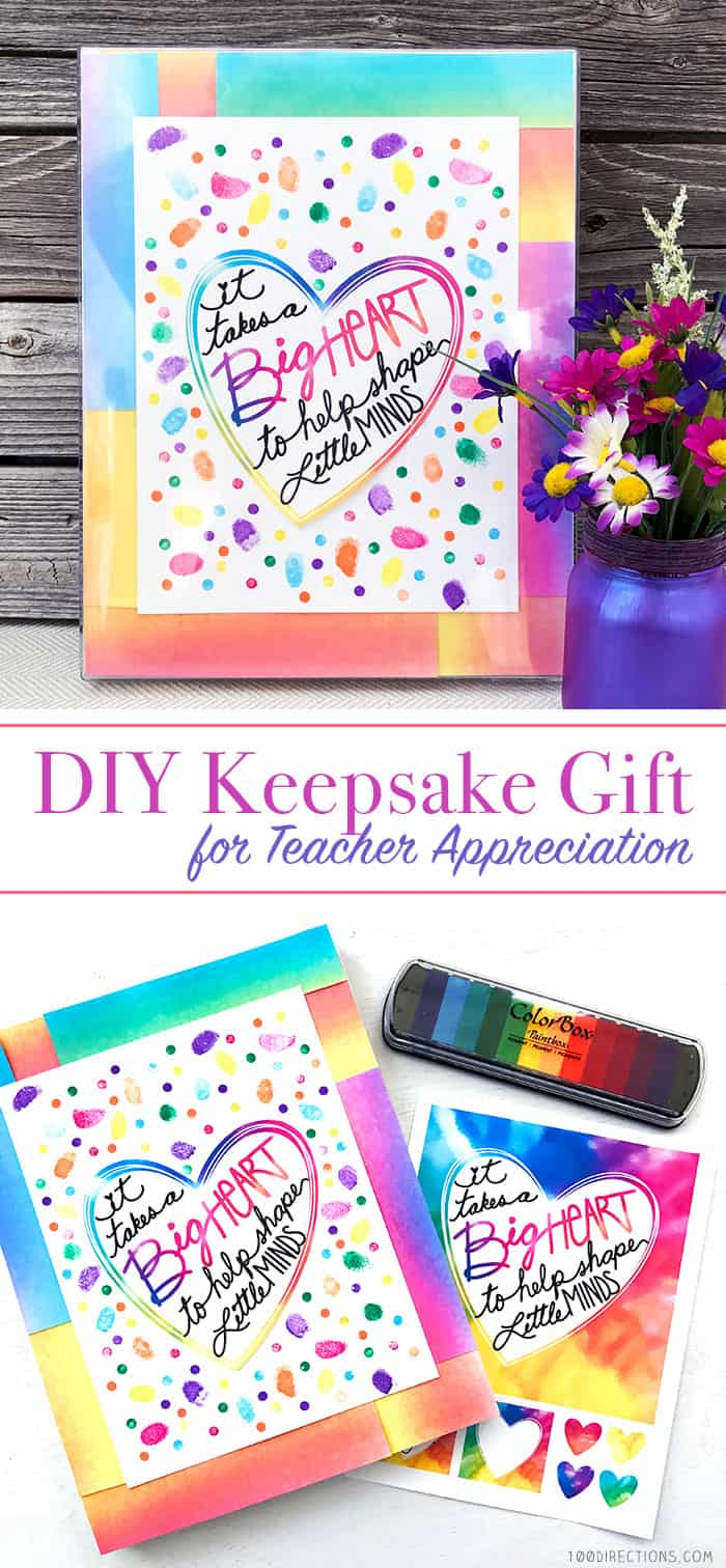 DIY Teacher Appreciation Keepsake art and printable