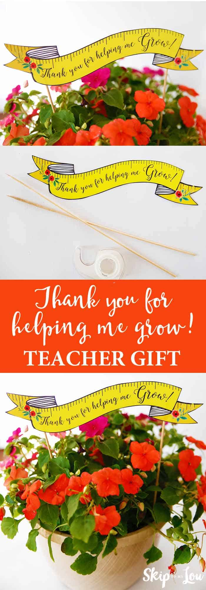 flower teacher thank you gift