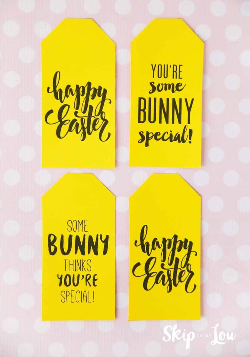 Cutest free easter printable gift tags for all your treats free printable easter gift tags negle