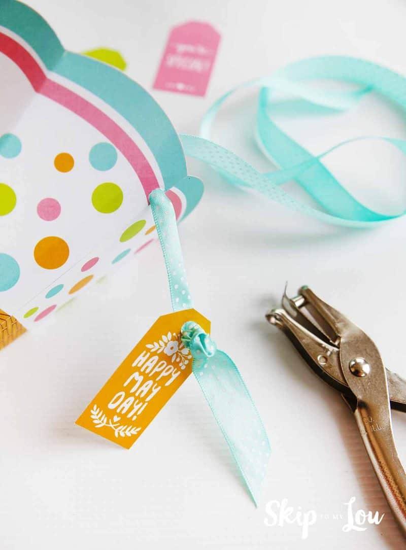may day basket gift tag