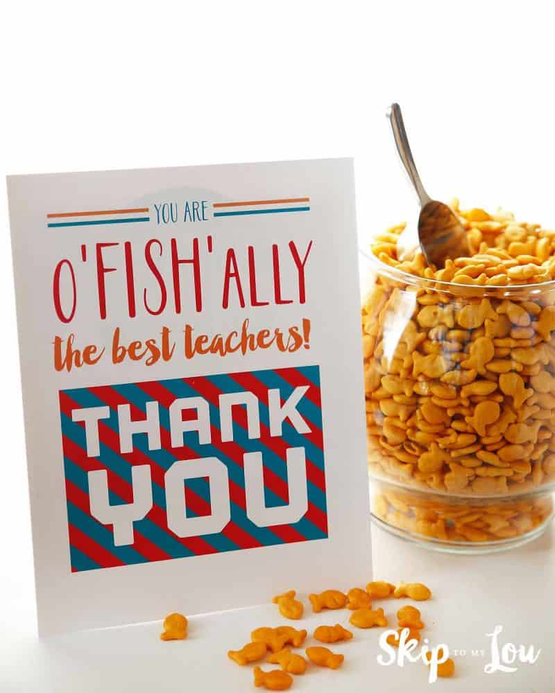 oFISHally appreciation sign for teacher lounge