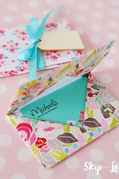DIY origami gift card holder