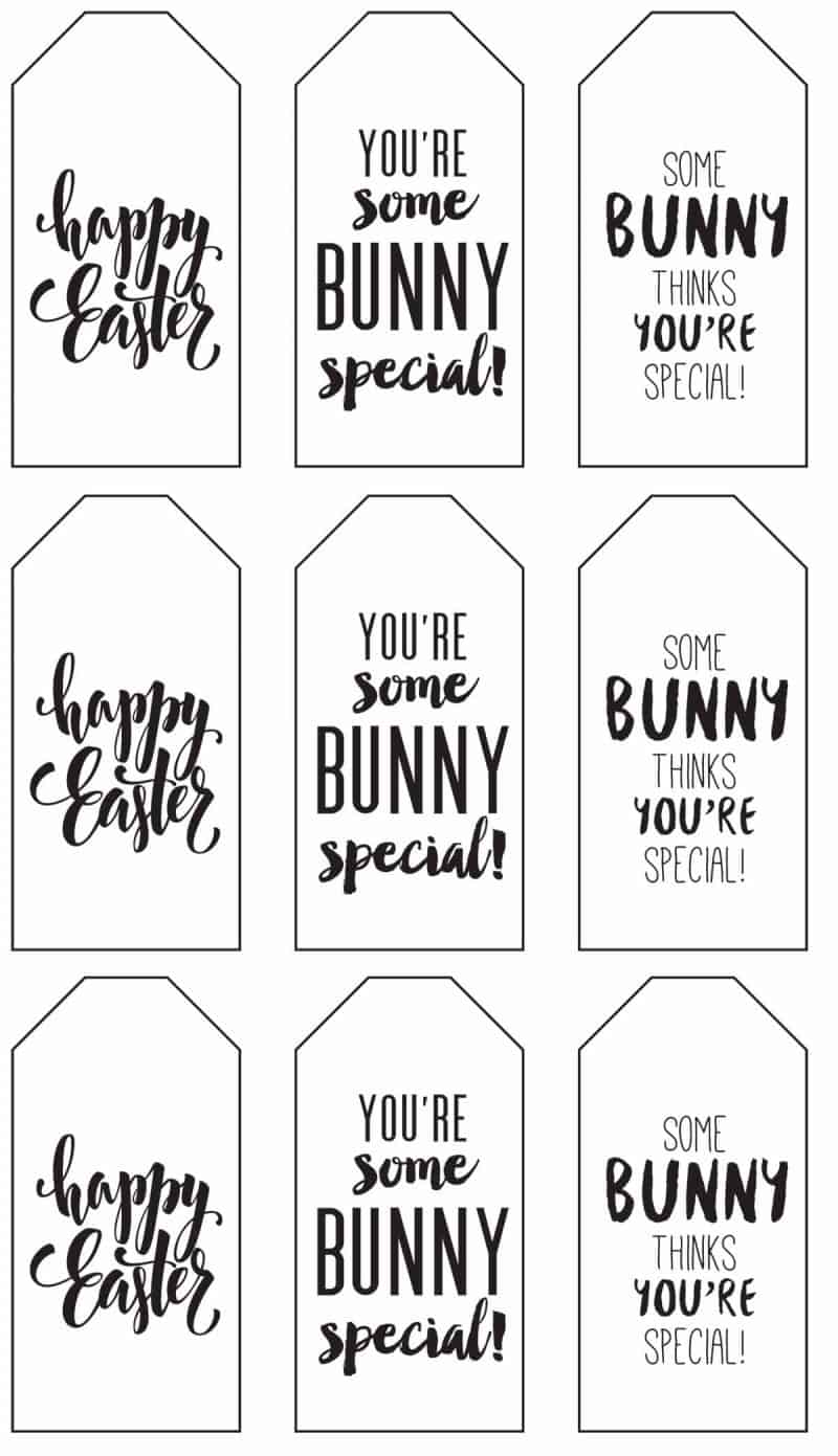 This is a graphic of Current Printable Easter Tag