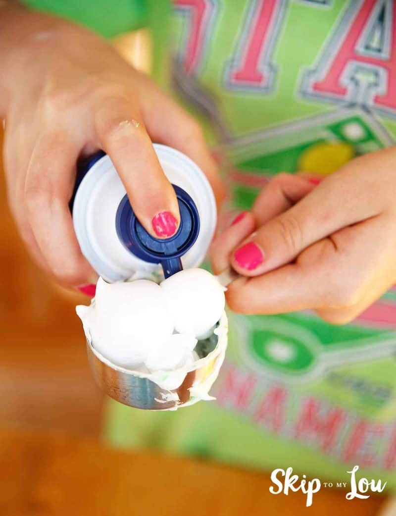safe slime add shaving cream