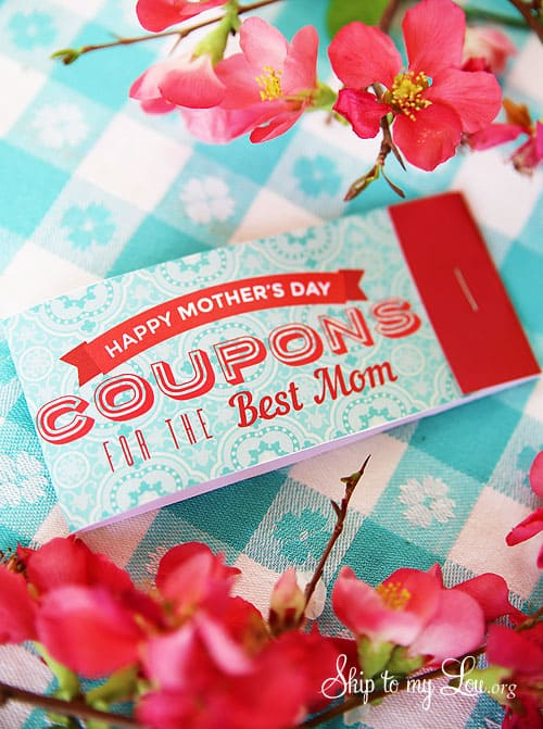 free printable mother's day coupon book gift idea